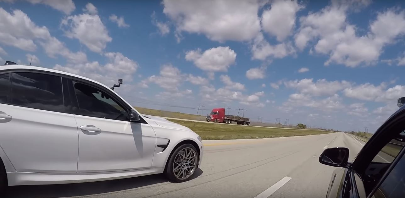 BMW M2 Drag Races M3 Competition