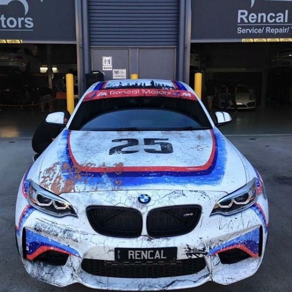 Here S What Cars Will Look Like In 30 Years: UPDATED: BMW M2 With Worn-Out 1975 3.0 CSL Racecar Livery
