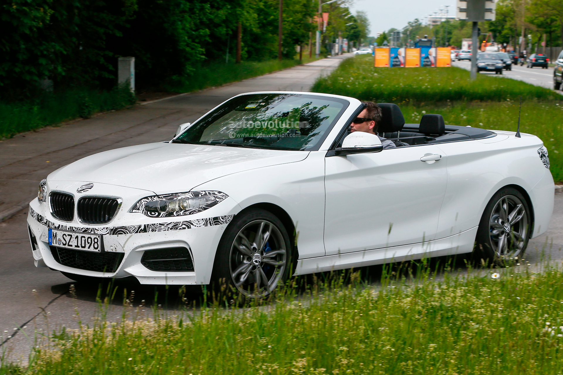 Bmw White Convertible Bmw Mi Convertible Spied With The Top Down