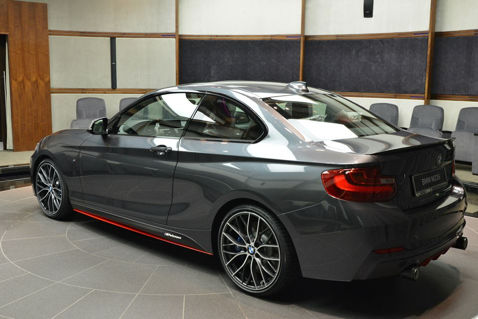 bmw m235i shows up in abu dhabi with red performance parts. Black Bedroom Furniture Sets. Home Design Ideas