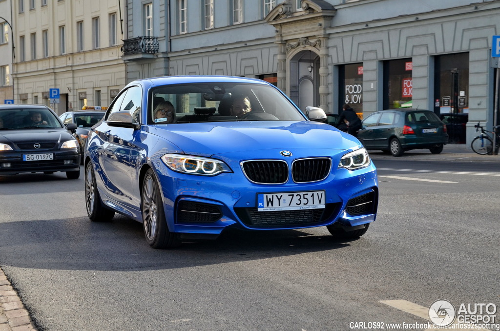 BMW M235i Spotted in Estoril Blue and Sapphire Black ...