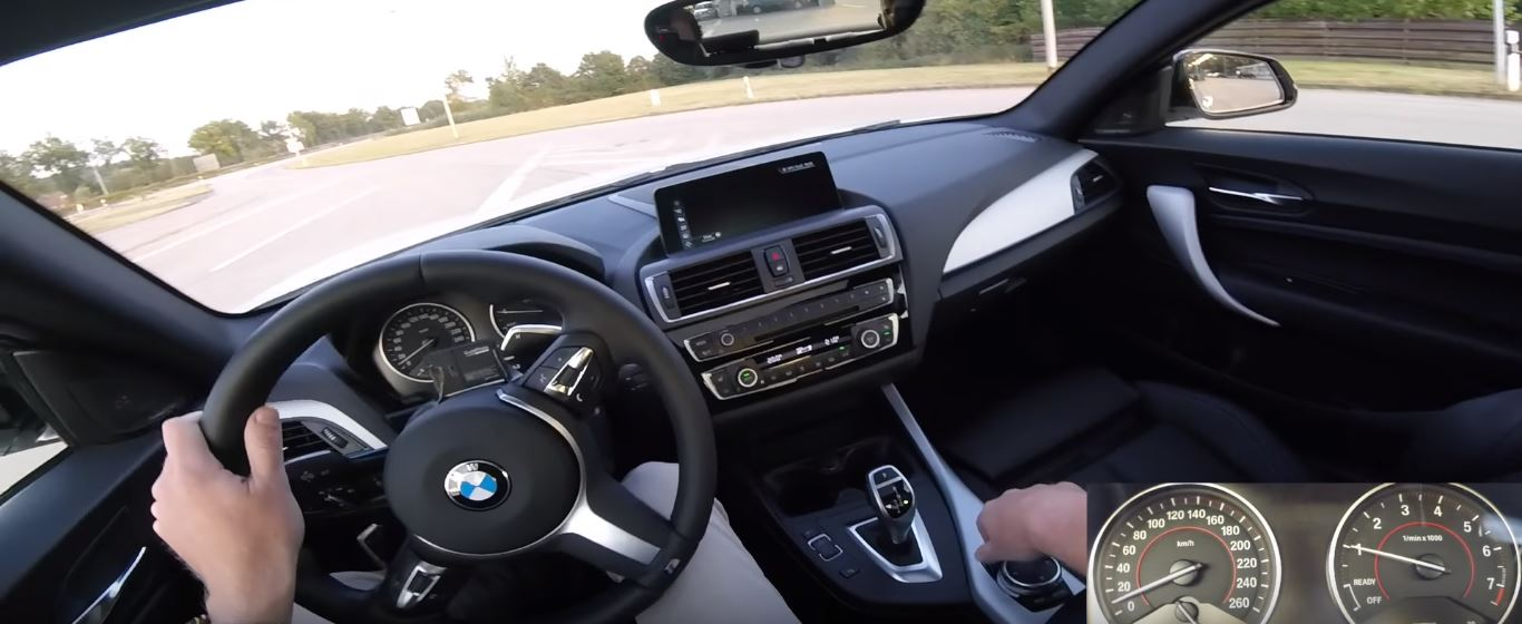 Bmw M240i Overtakes Truck At 155 Mph Top Speed During Autobahn