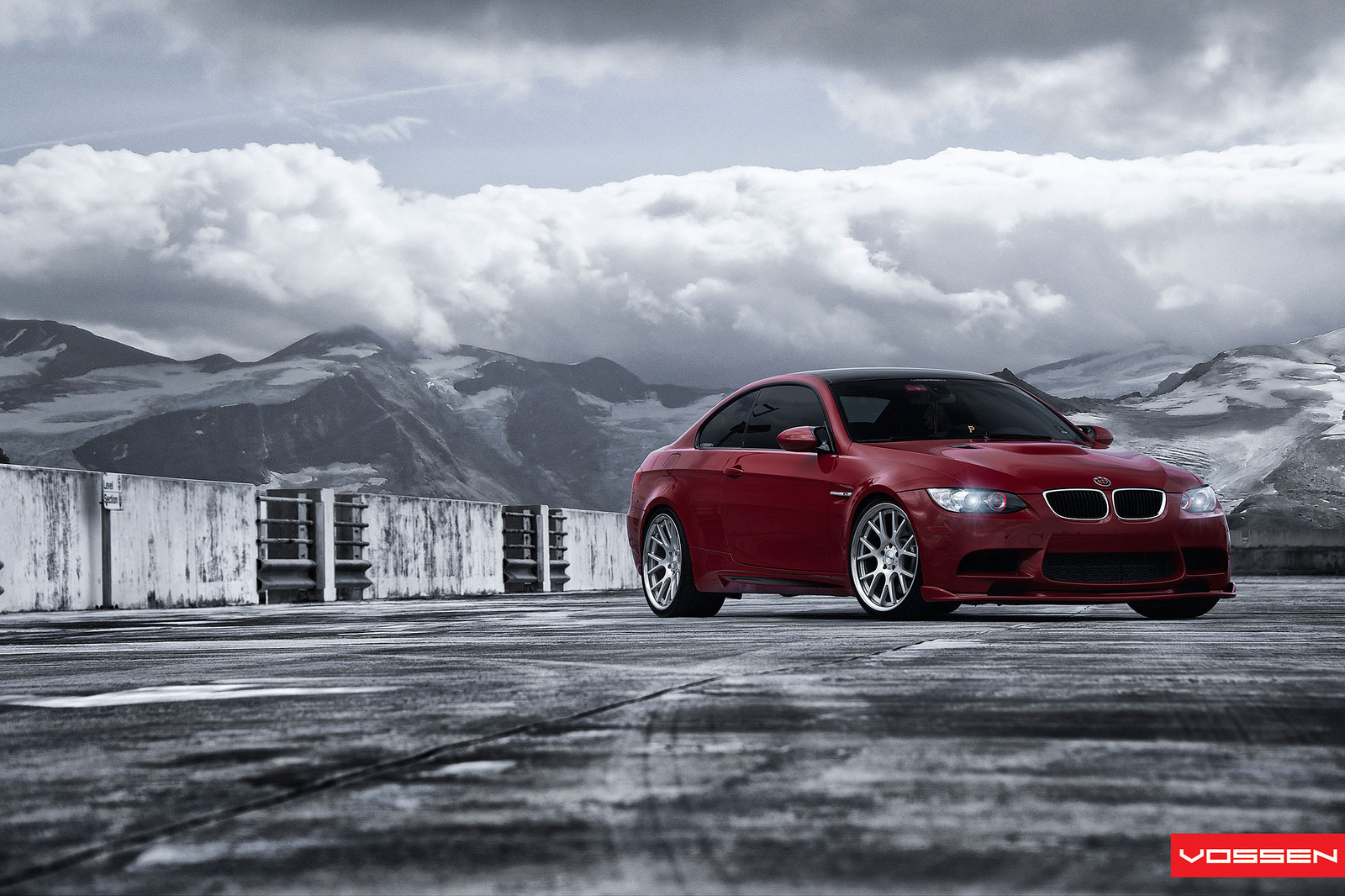 Bmw m3 coupe on machined vossen wheels photo gallery