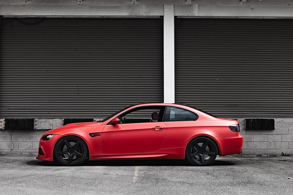 Bmw M3 In Matte Red Is Amazing Autoevolution