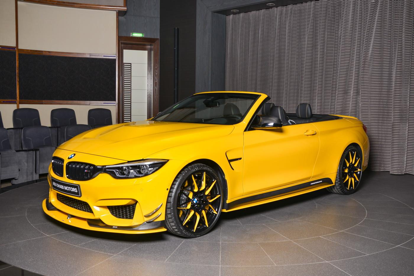 bmw m4 cabrio has speed yellow paint ac schnitzer kit and gts hood autoevolution. Black Bedroom Furniture Sets. Home Design Ideas