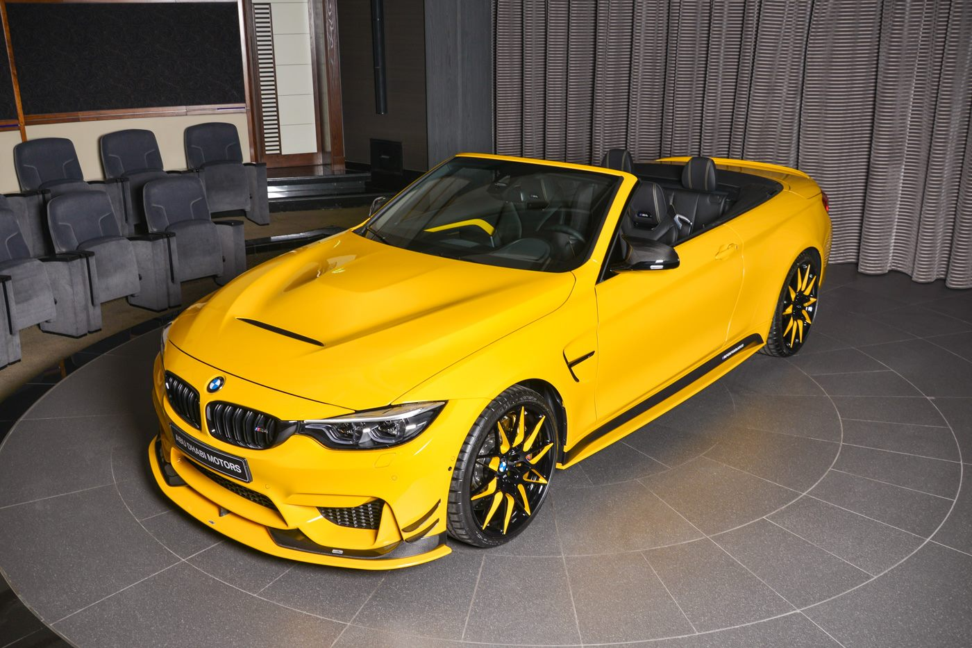 bmw m4 cabrio has speed yellow paint ac schnitzer kit. Black Bedroom Furniture Sets. Home Design Ideas