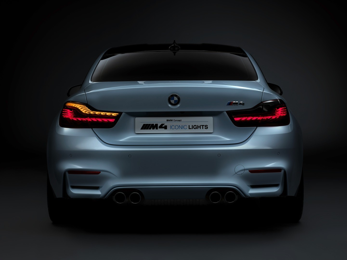 bmw m4 concept iconic lights brings intelligent laser beams and oleds at ces