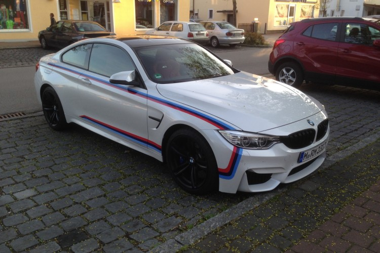 bmw m4 coupe with m stripes might be a special edition. Black Bedroom Furniture Sets. Home Design Ideas