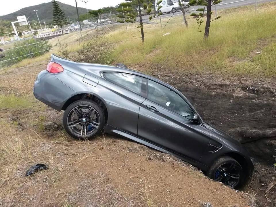 Bmw M4 Doesn T Like The Road Prefers The Ditch In France