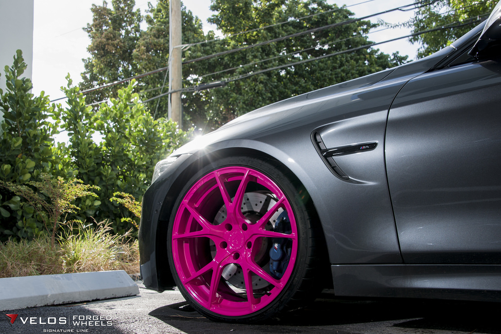 Online Car Sales >> BMW M4 on Pink Wheels Poses for Breast Cancer Awareness ...
