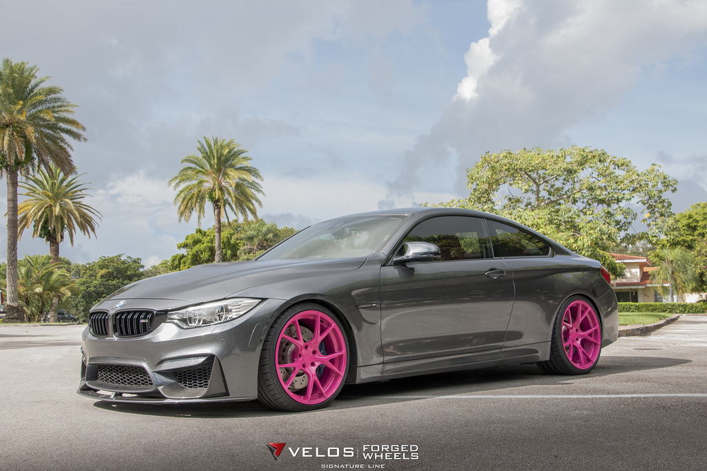 BMW M4 on Pink Wheels Poses for Breast Cancer Awareness ...