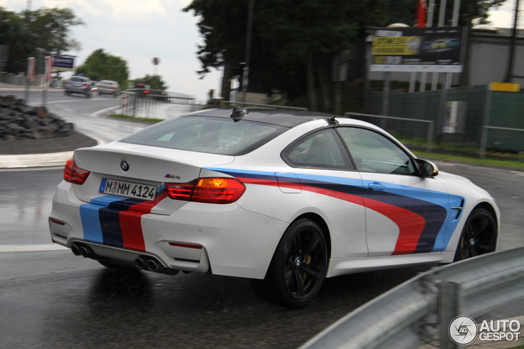 Bmw M4 With M Stripes Spotted In Germany Autoevolution