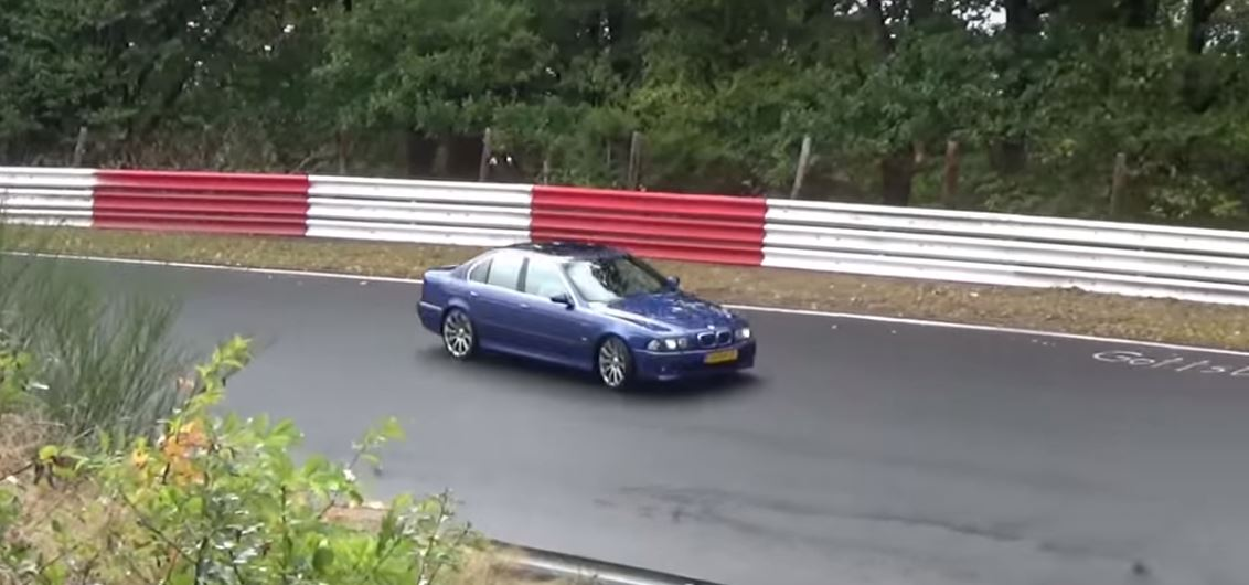BMW M5 Has Drifting Crash on Nurburgring, a Quick Lesson on Grip