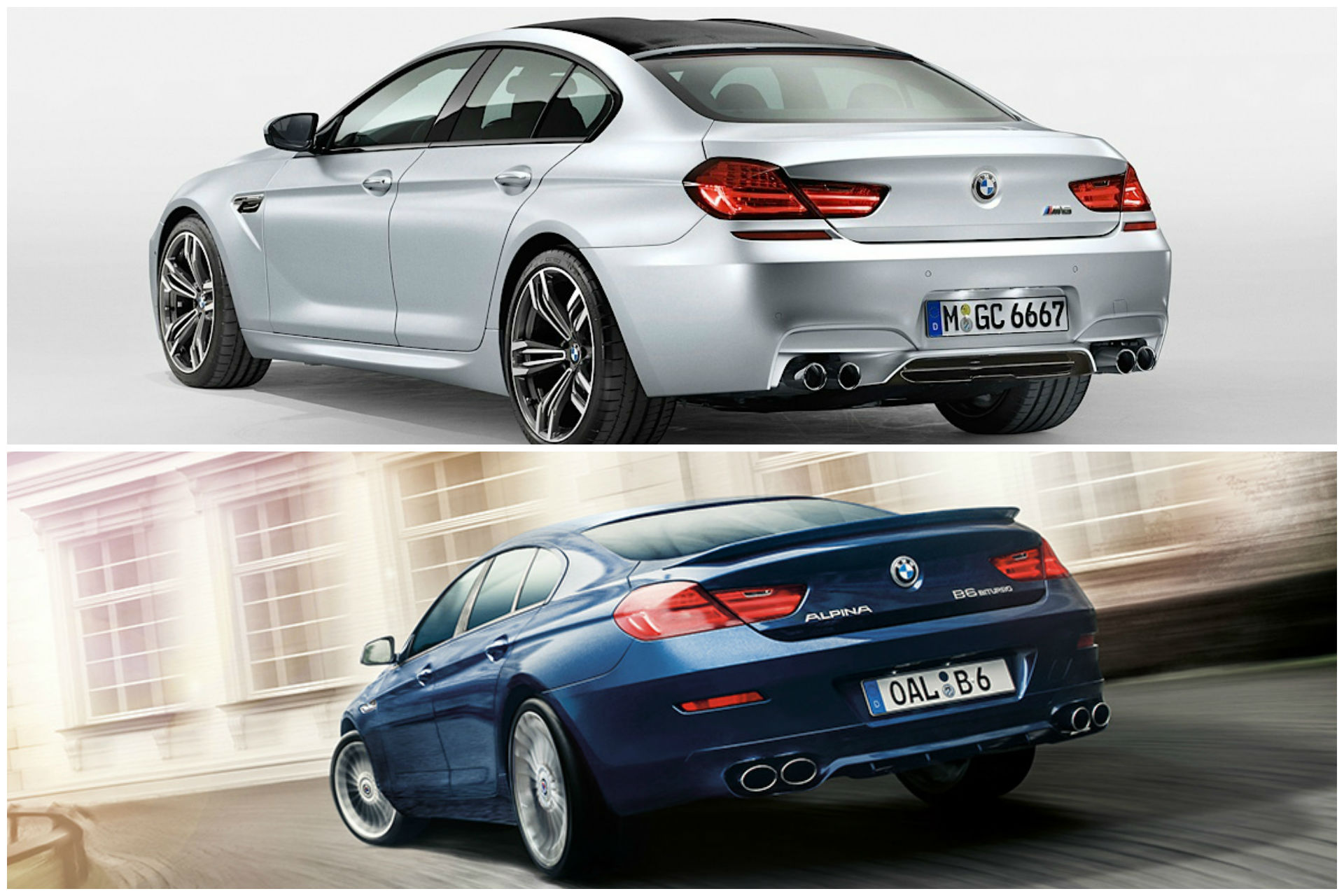 Bmw M6 Gran Coupe Vs Alpina B6 Gran Coupe What Makes Them