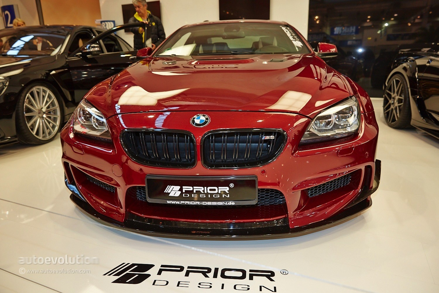 bmw m6 with a quilted interior belongs to prior design at essen 2014 live photos autoevolution. Black Bedroom Furniture Sets. Home Design Ideas