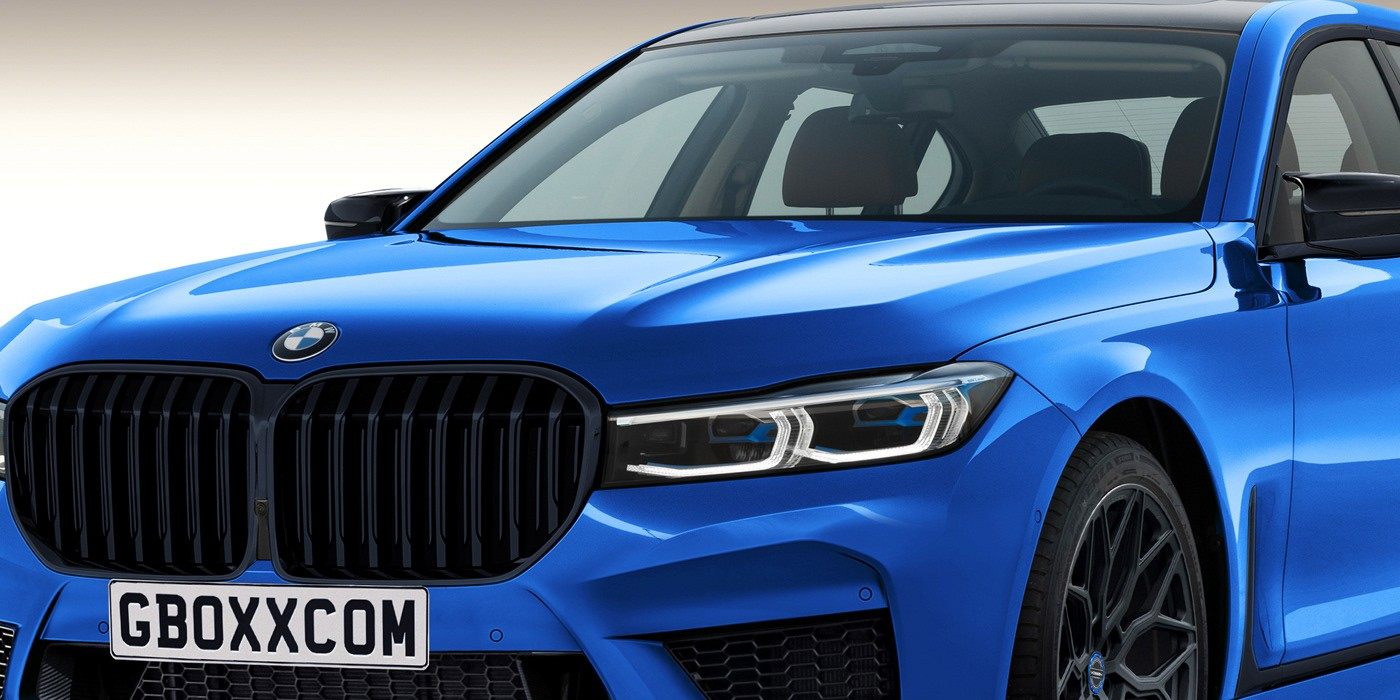 Bmw M7 Returns As Rendering With Extra Large Black Grille