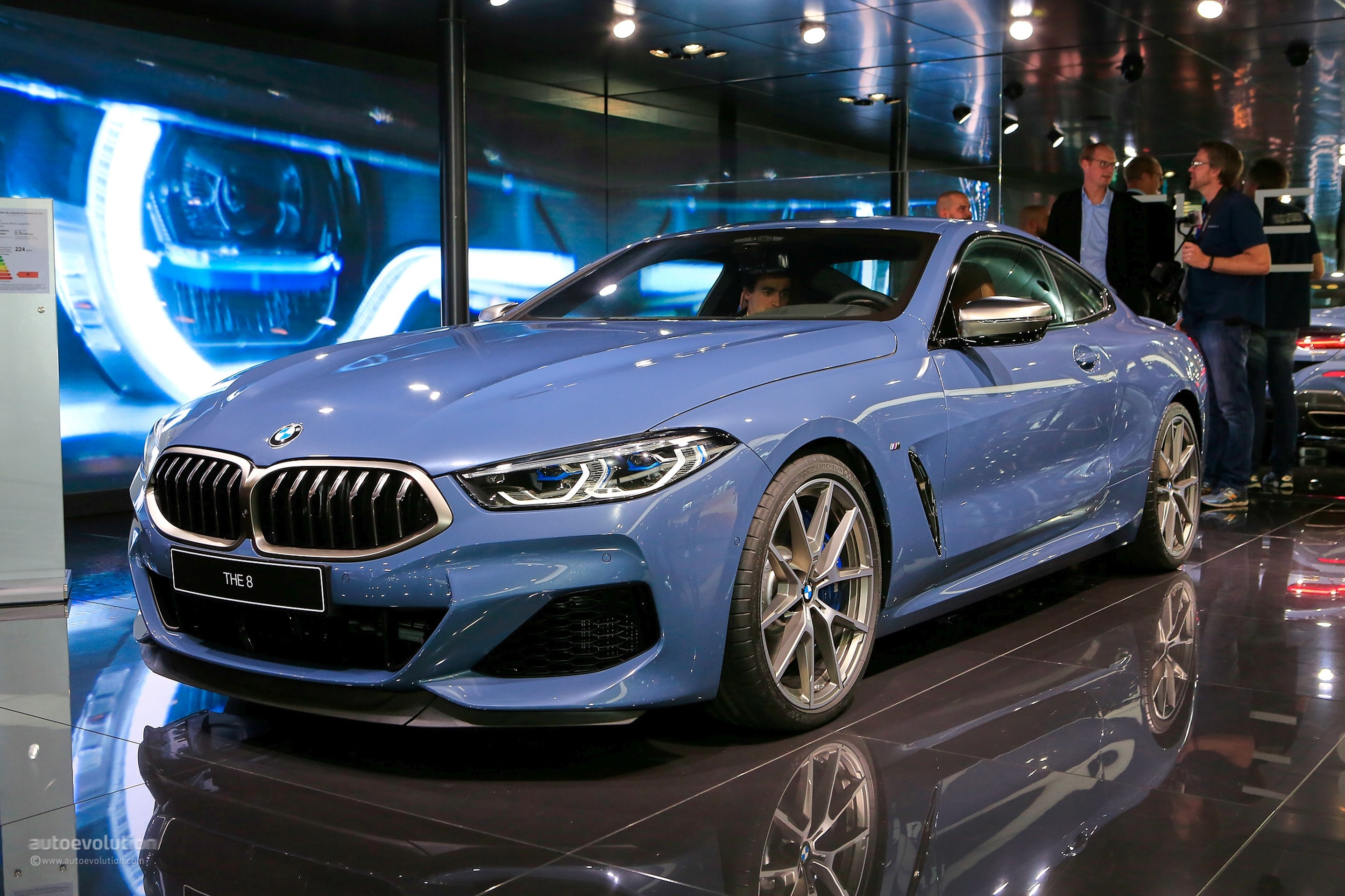 Barcelona Blue Bmw M850i Looks The Part In Paris Costs M5