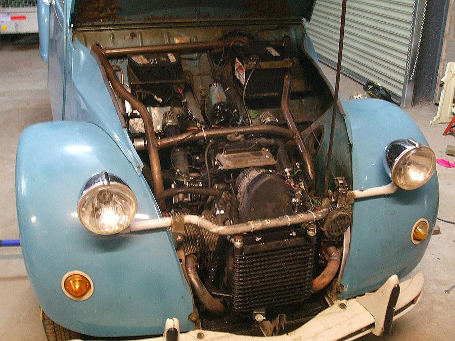 Bmw Motorcycle Boxer Engine Powers Citroen 2cv Autoevolution