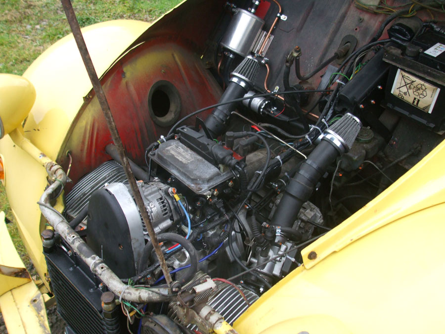 citroen 2cv with bmw engine