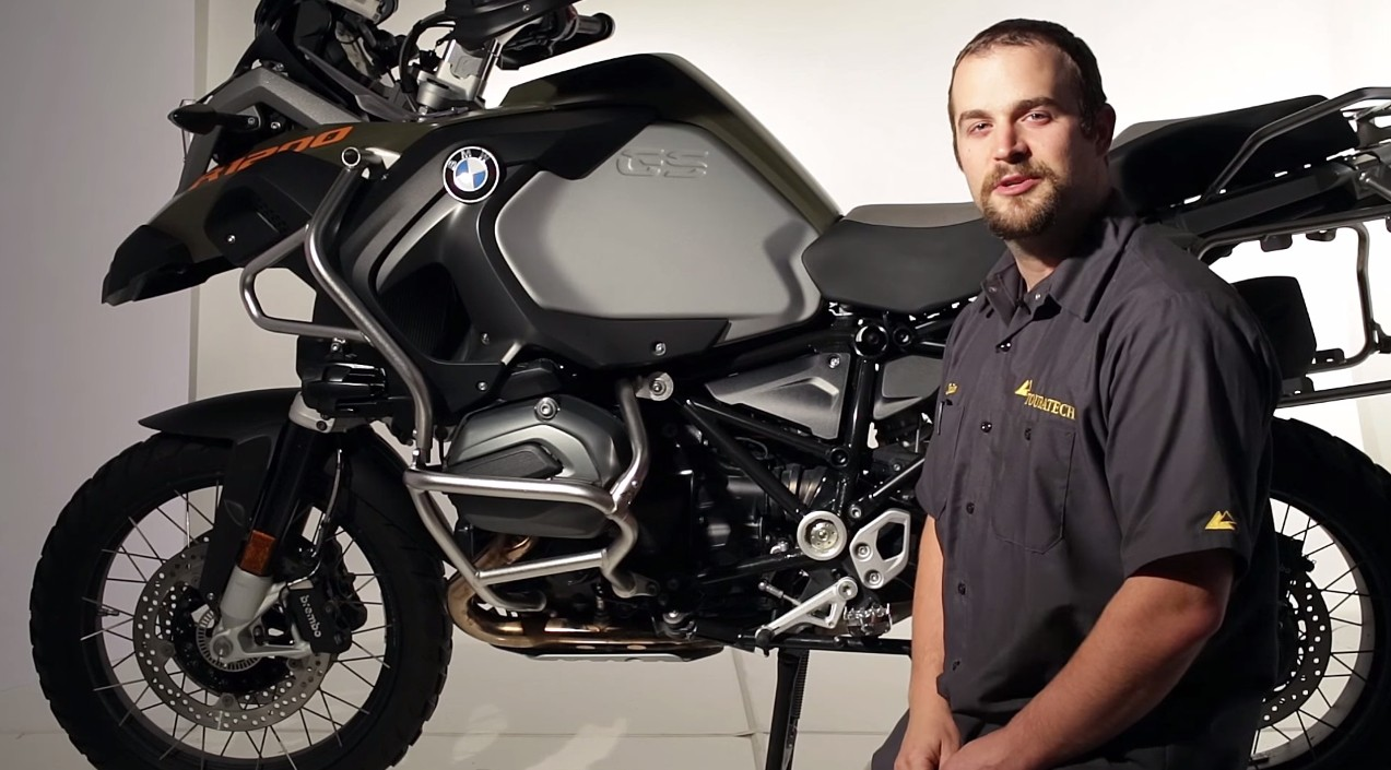 bmw r1200gs crash bars aren't that good, touratech shows you why