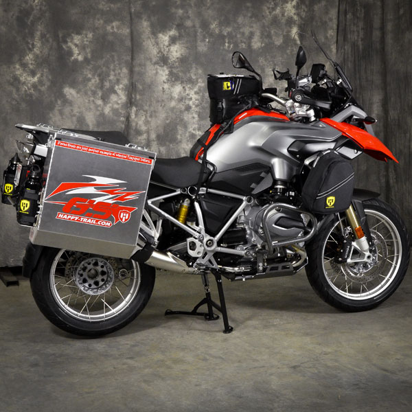 BMW R1200GS Receives Happy Trail Aluminium Panniers ...