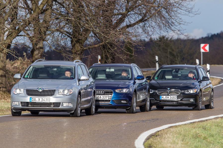 Bmw Touring Vs Audi A4 Avant Vs Skoda Superb Combi