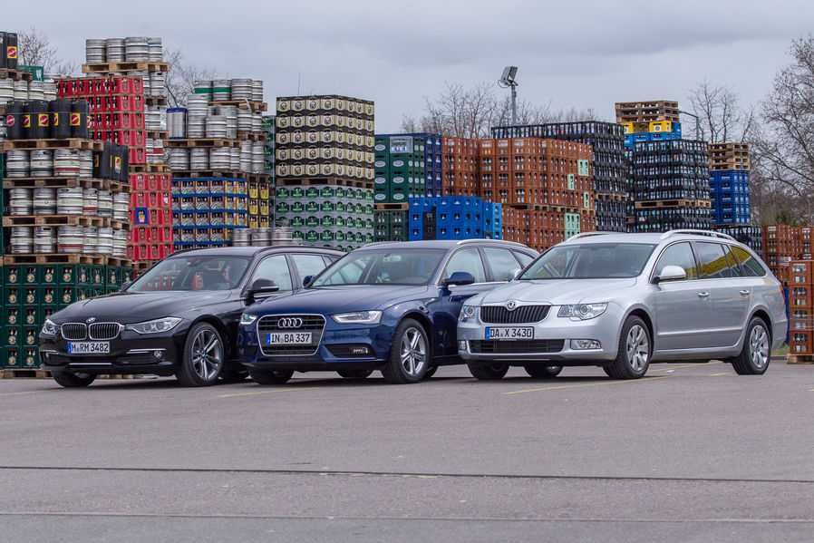 Bmw Touring Vs Audi A4 Avant Vs Skoda Superb Combi