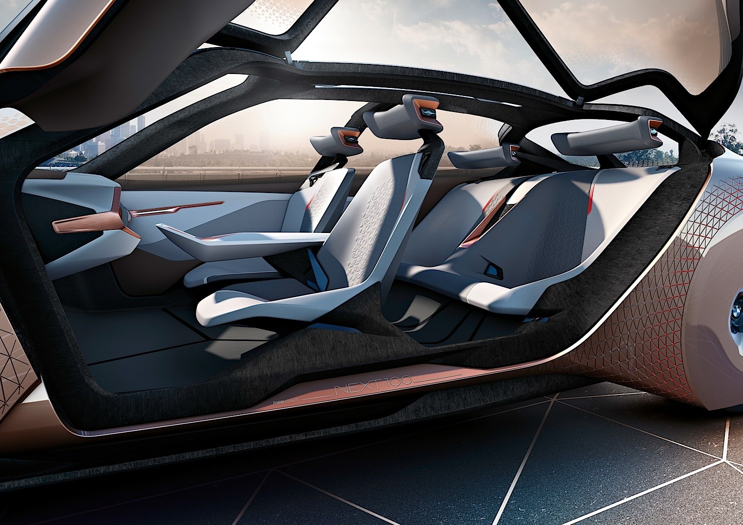 Bmw Vision Next 100 Futuristic Moving Wheel Arches And Dash In The Flesh Autoevolution