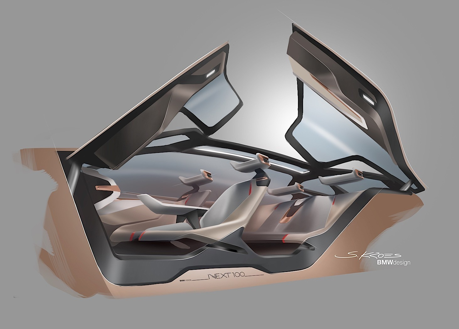 bmw vision next 100 futuristic moving wheel arches and dash in the flesh autoevolution. Black Bedroom Furniture Sets. Home Design Ideas