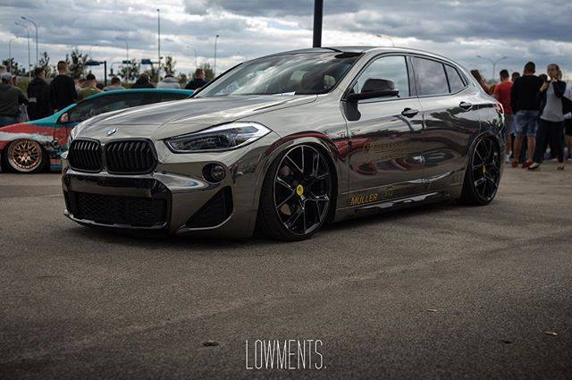 BMW X2 Lowered on mbDESIGN Wheels Looks Like a Golf GTI ...