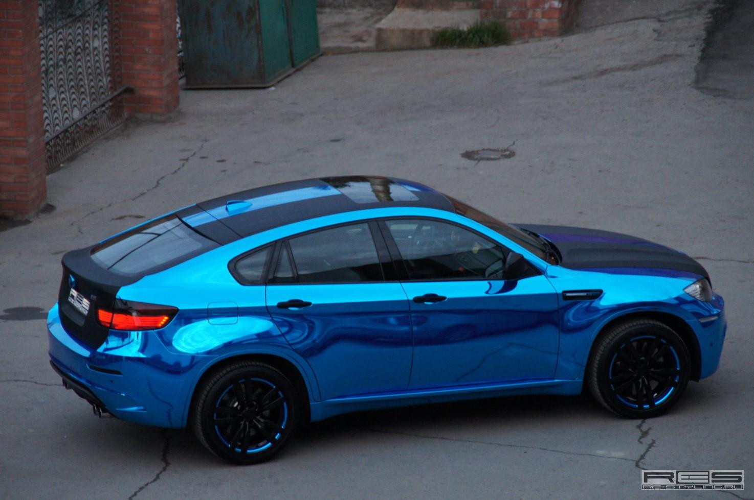 Bmw X6 M In Blue Chrome Autoevolution