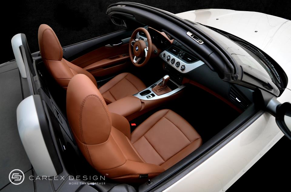 BMW Z4 Milk Chocolate Custom Leather Interior - autoevolution