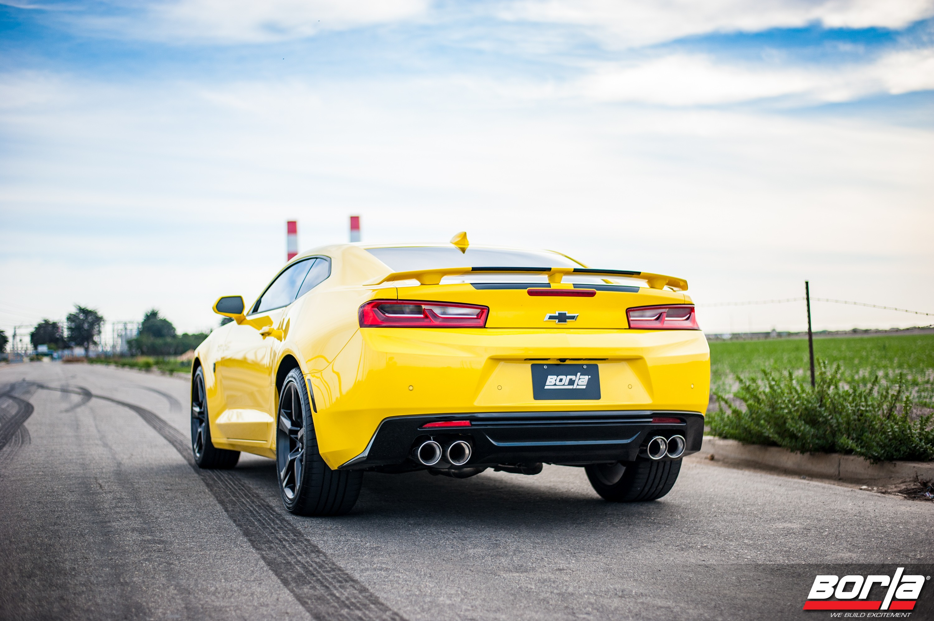 2016 chevrolet camaro ss equipped with borla exhaust system
