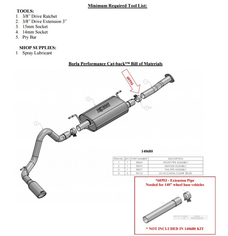 borla exhaust system for toyota tacoma 3 5 v6 priced at
