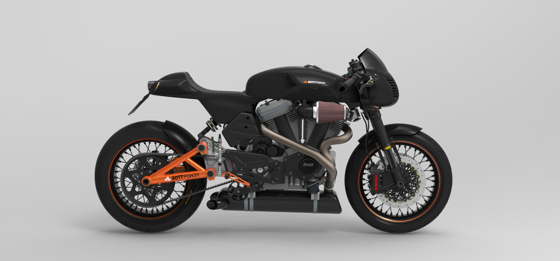 Bottpower Cafe-Racer New Rendering Surfaces - autoevolution