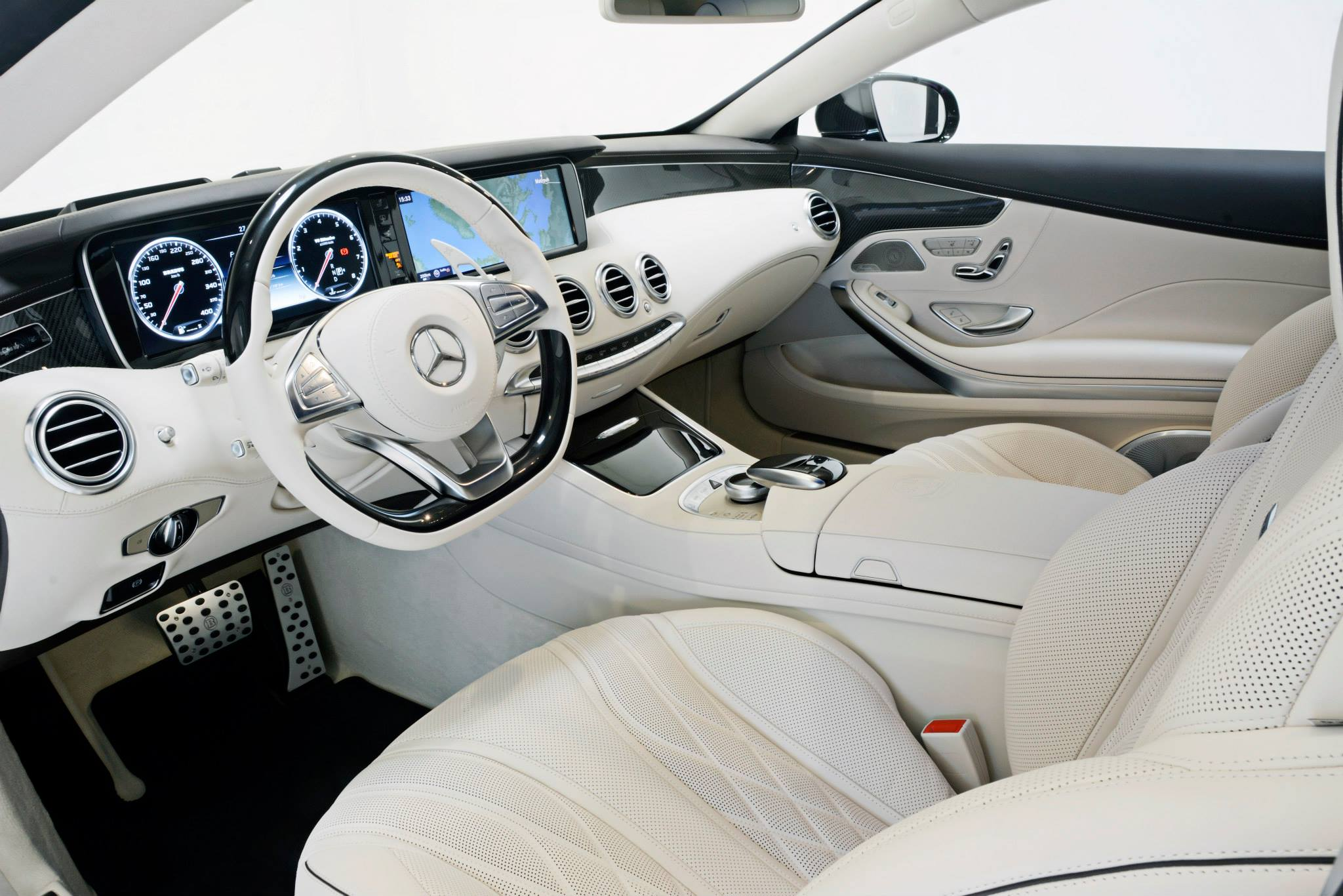 Brabus 850 for s63 amg coupe brings black paint and cream leather autoevolution