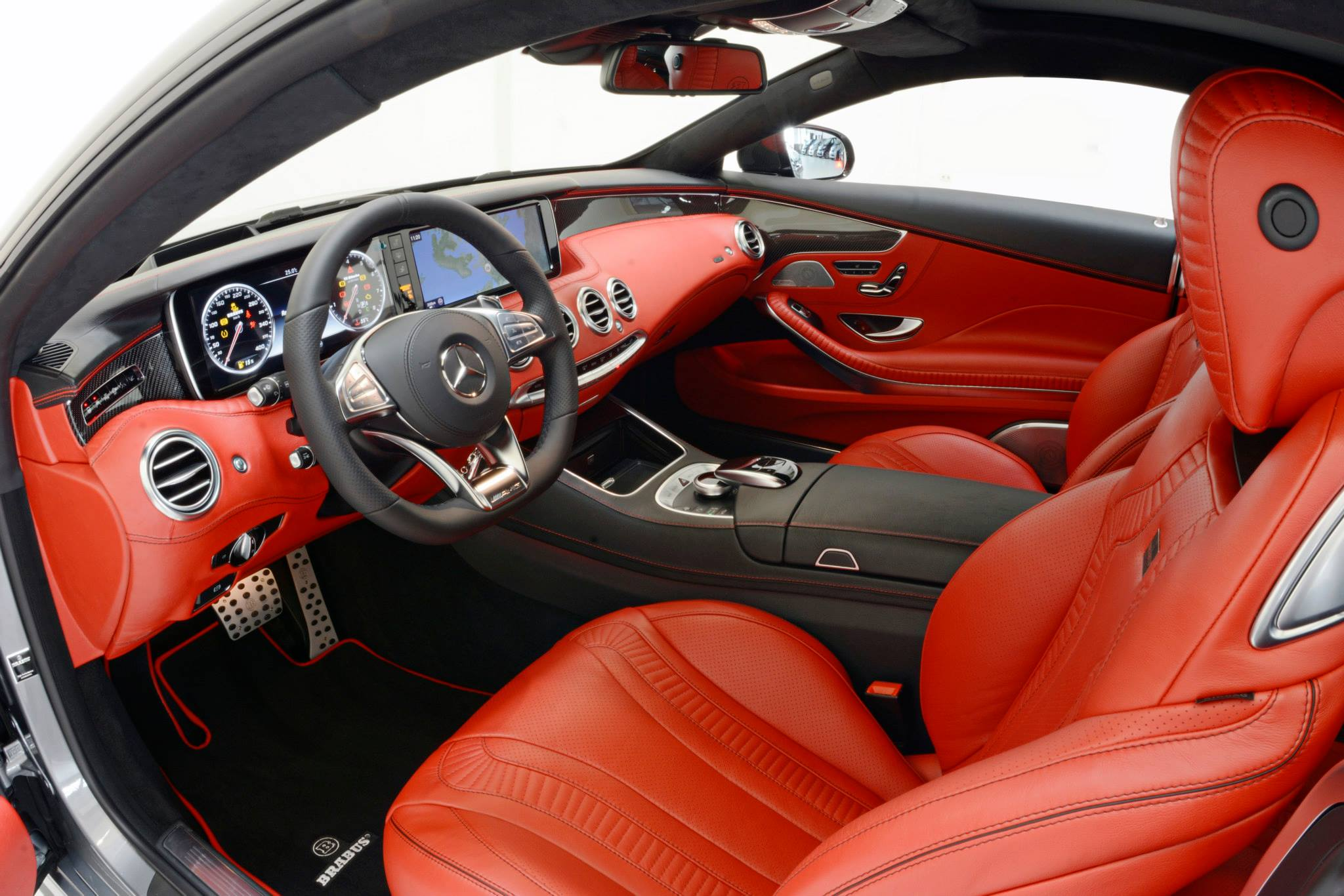 Brabus 850 Package Tunes S63 Amg Coupe With Red Leather And Silver