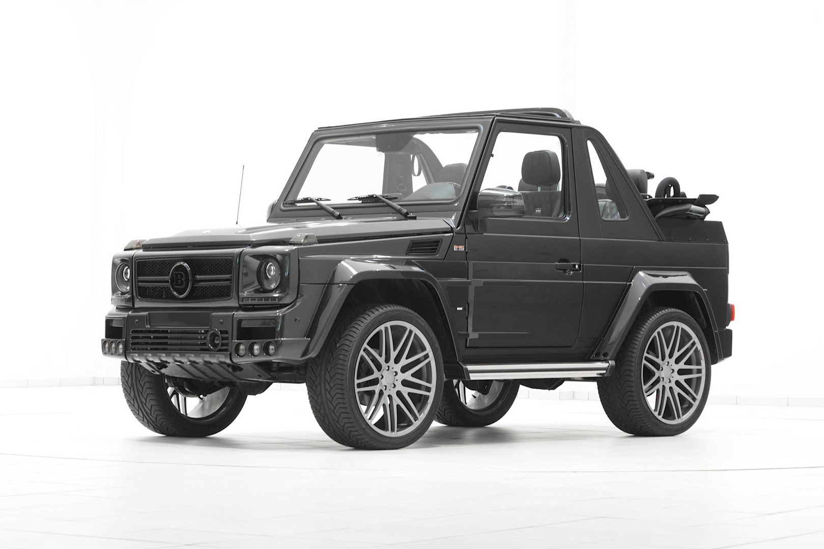 brabus g class cabrio looks too evil for st tropez autoevolution. Black Bedroom Furniture Sets. Home Design Ideas
