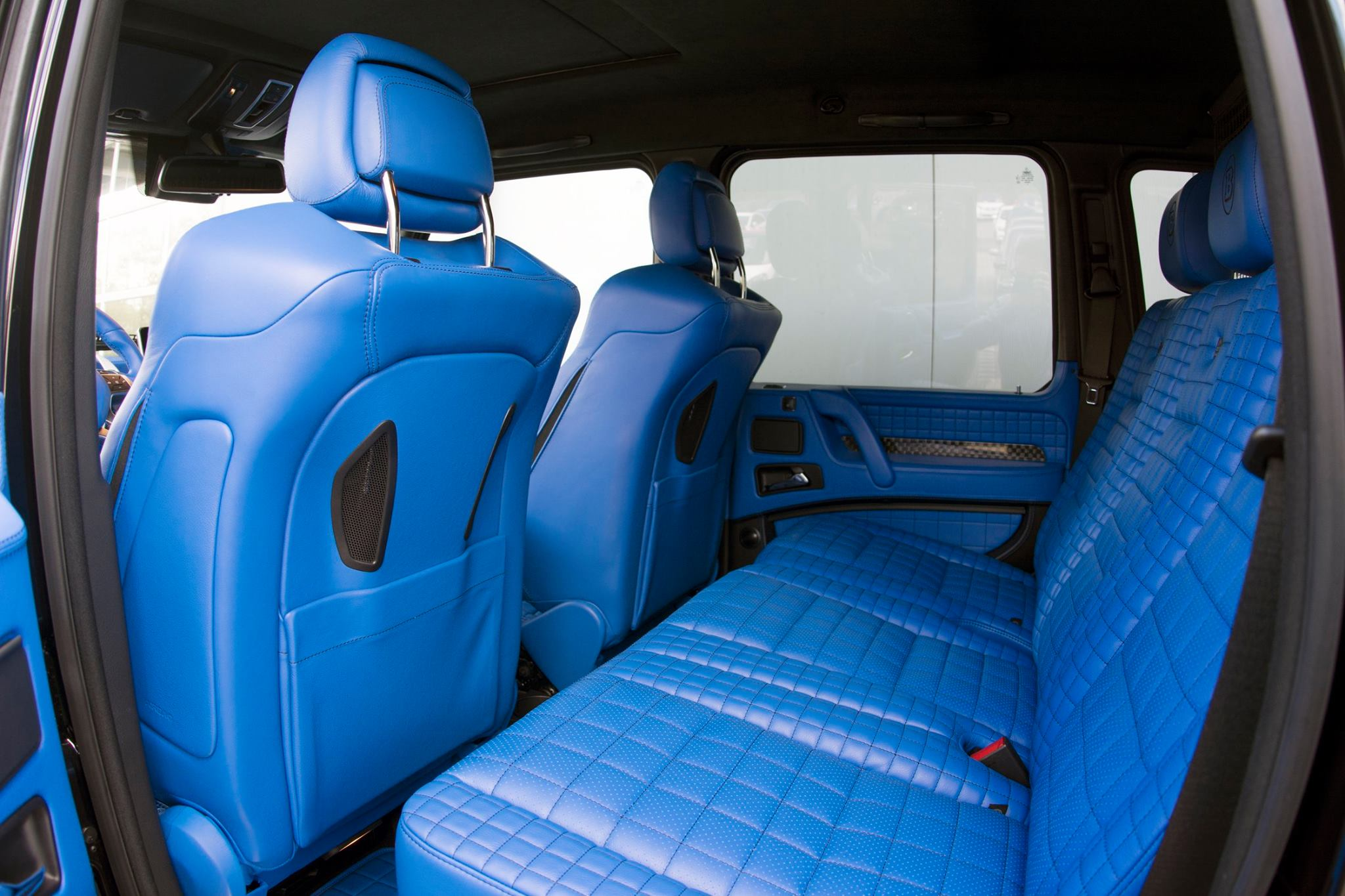 Brabus G500 4x4 Has A Blue Leather Interior That S Nifty
