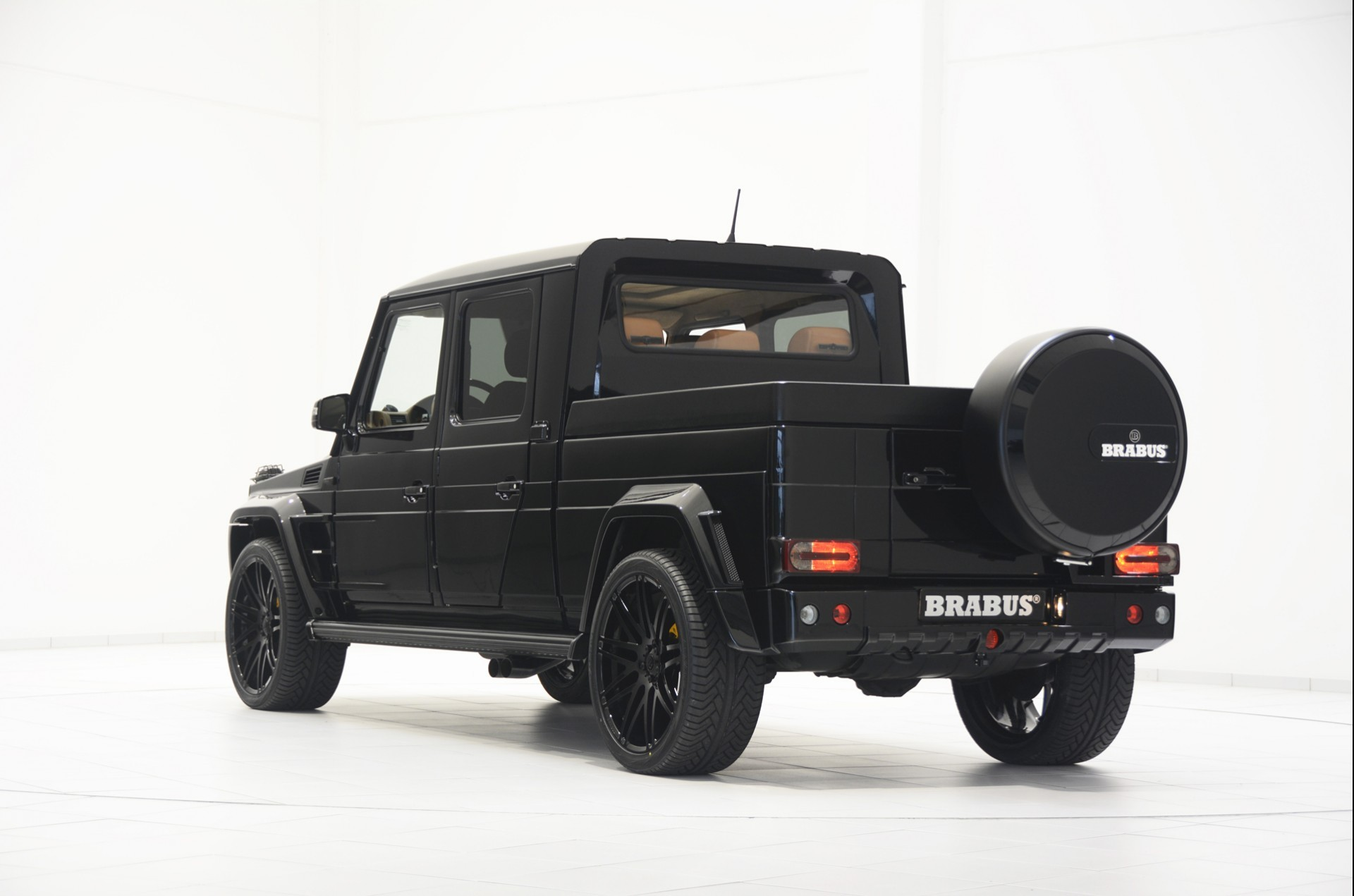 brabus g500 xxl pickup truck is very large wide and cool autoevolution. Black Bedroom Furniture Sets. Home Design Ideas