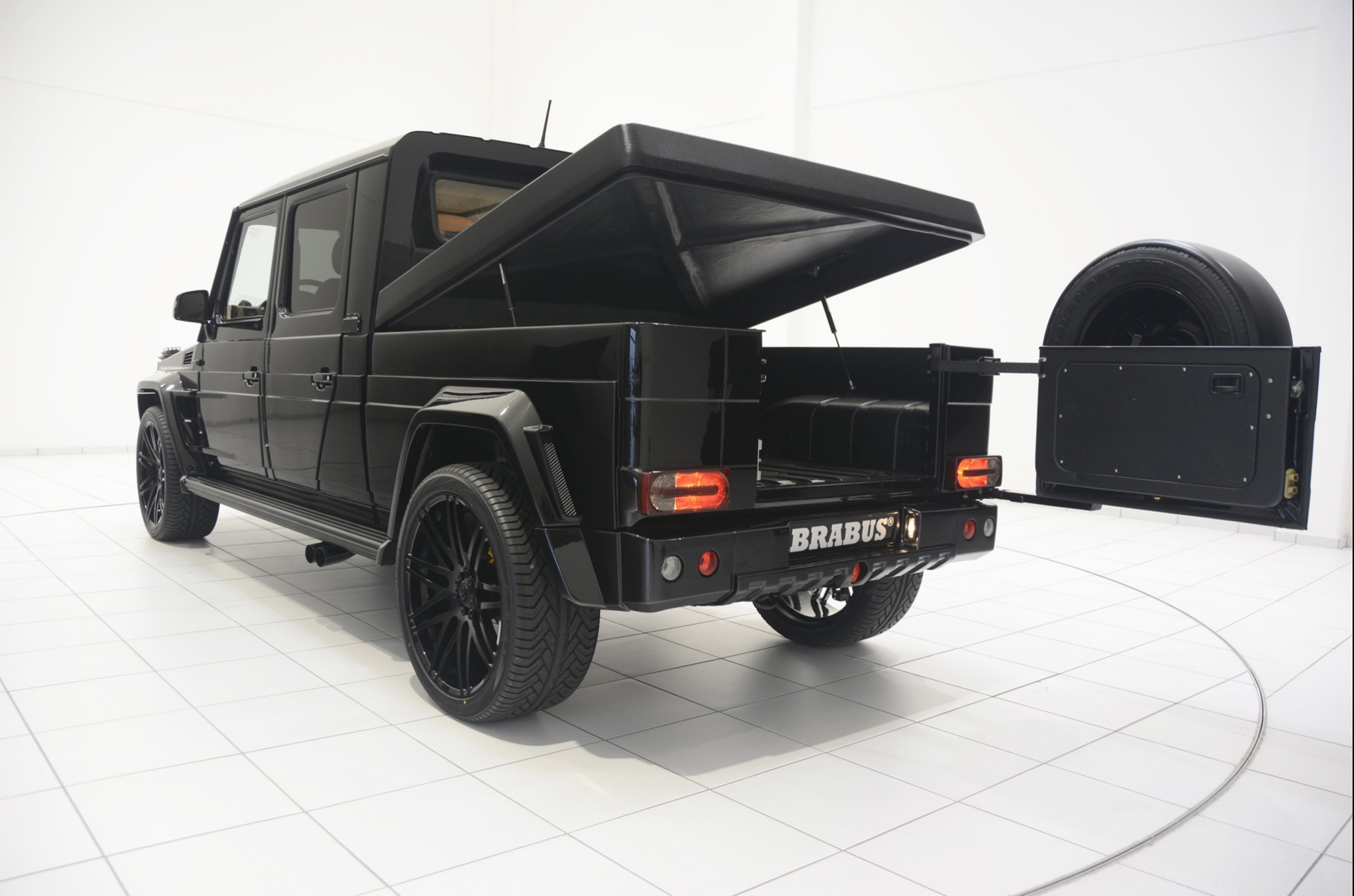 brabus g500 xxl pickup truck is very large wide and cool