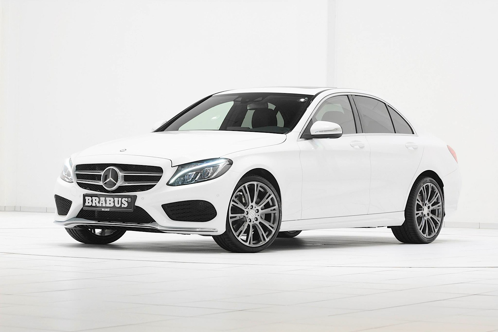 Brabus launches wheels for the new c class w205 for New white mercedes benz