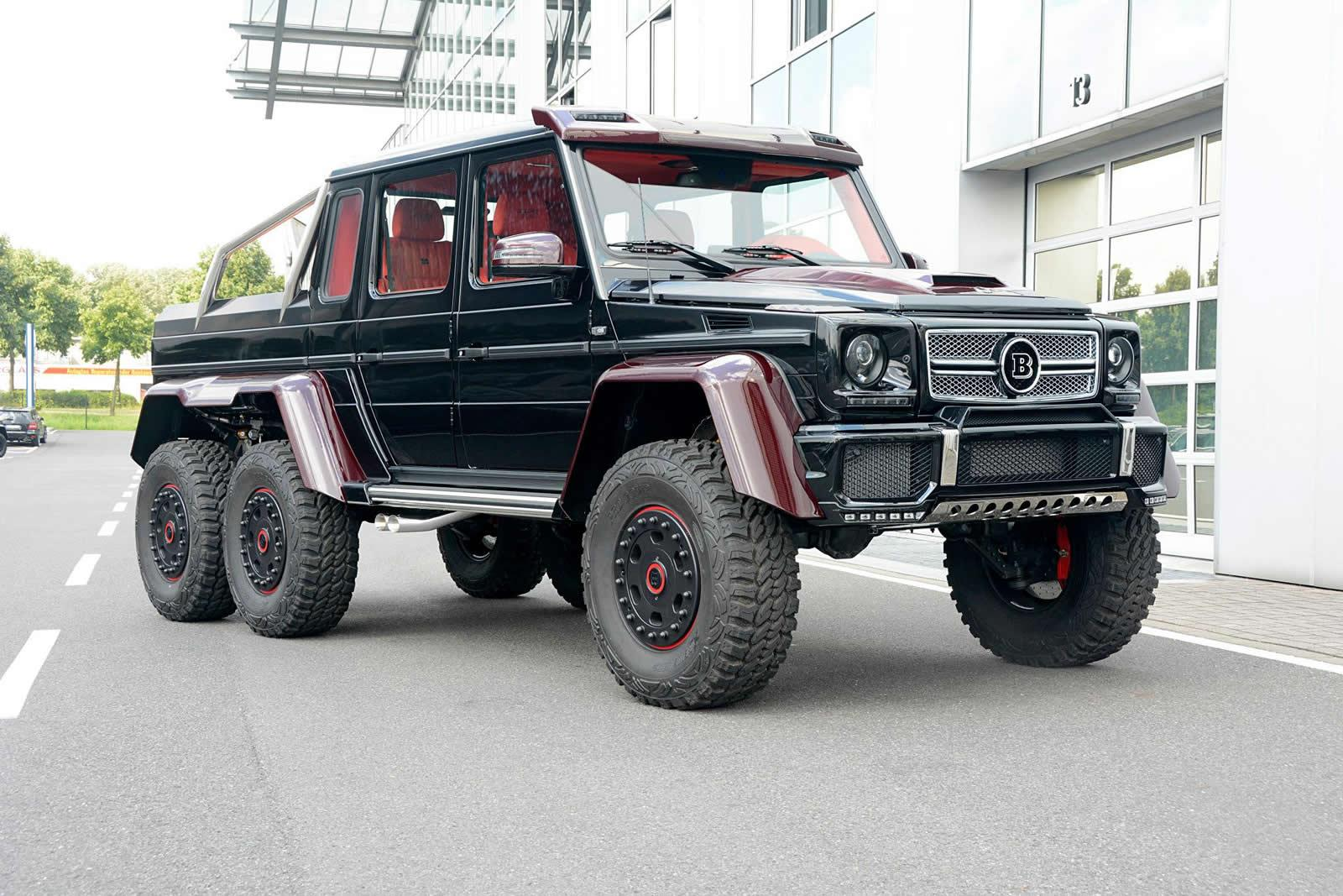 brabus mercedes benz g63 amg 6x6 now sports red carbon fiber for middle east autoevolution. Black Bedroom Furniture Sets. Home Design Ideas