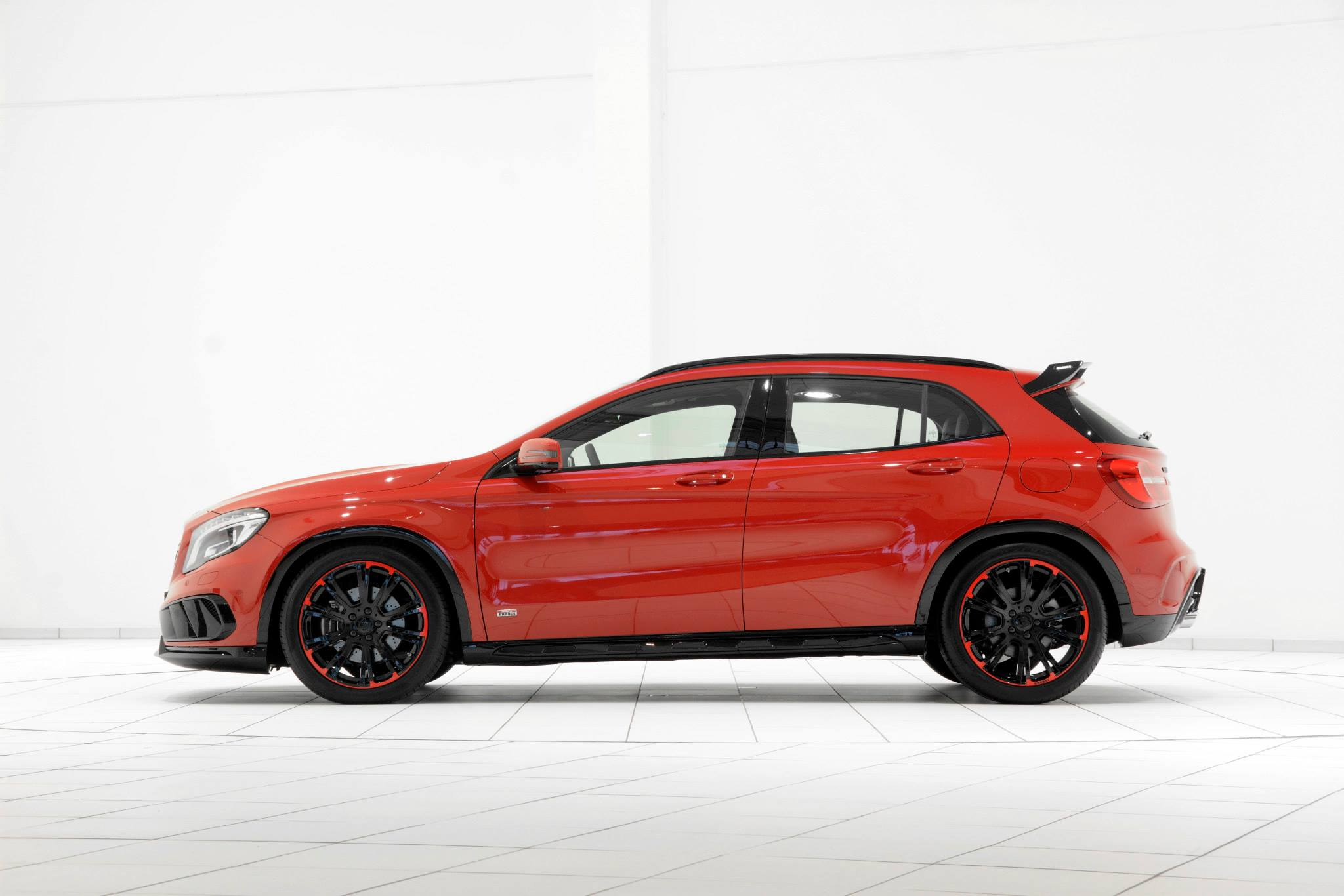 Mercedes Gla Tuned By Brabus Looks Stunning In Red And Black Gets