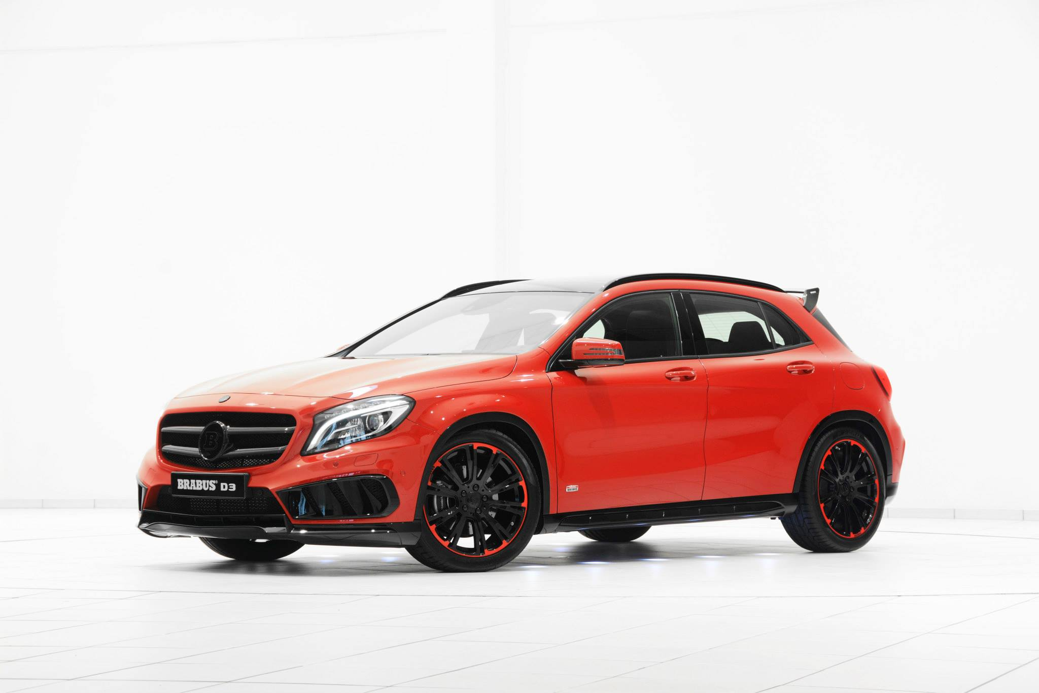 mercedes gla tuned by brabus looks stunning in red and. Black Bedroom Furniture Sets. Home Design Ideas