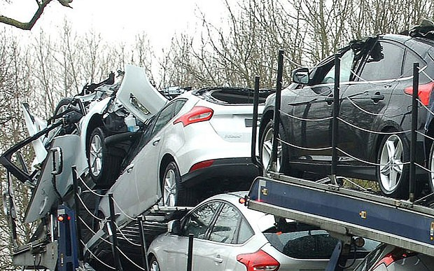 ... Brand-New Ford Cars Destroyed After Transporter Takes Shortcut and Hits a Bridge ... : brand new ford cars - markmcfarlin.com