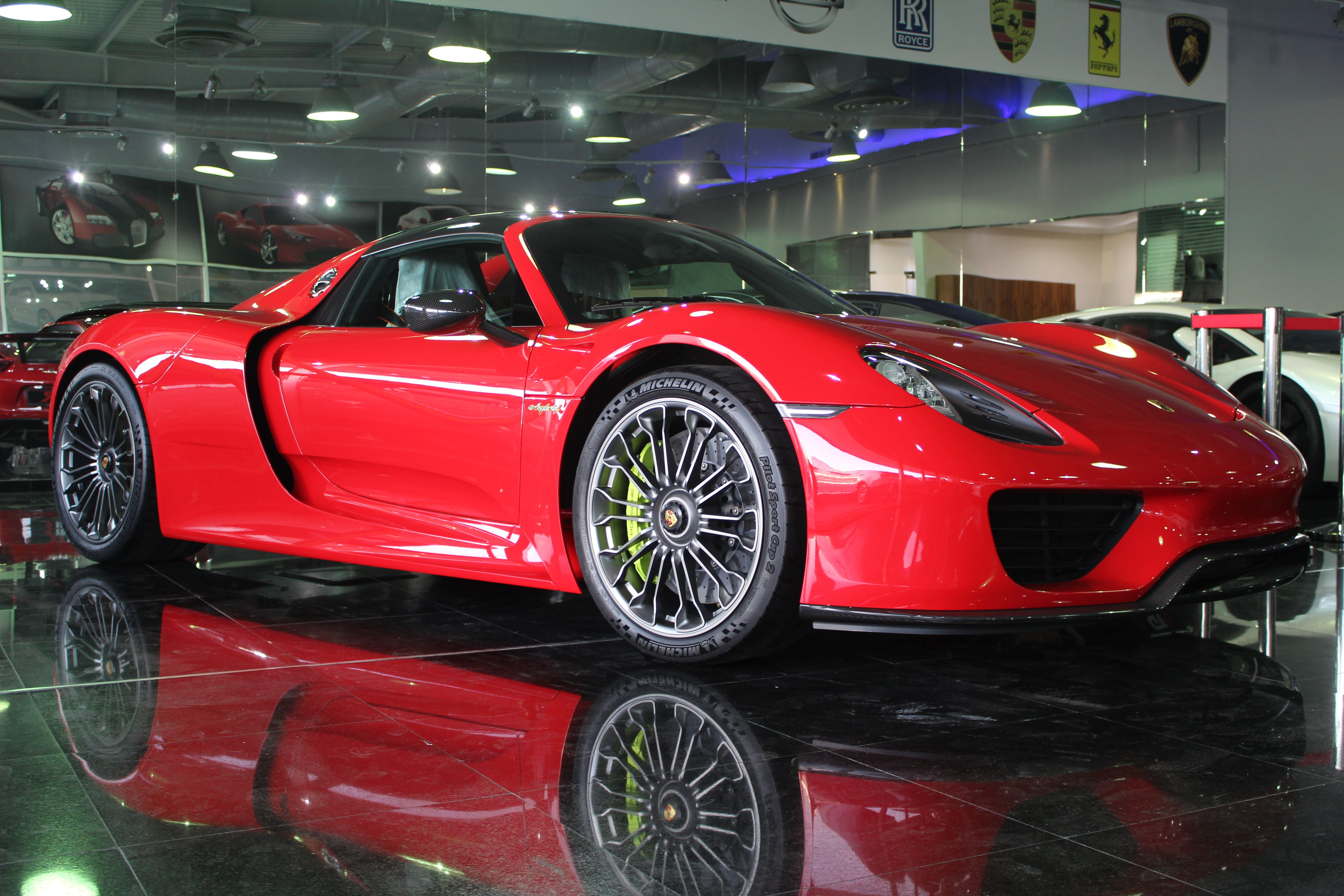Holy trinity for sale at dubai dealer 100 mile laferrari brand brand new porsche 918 spyder for sale in dubai sciox Images