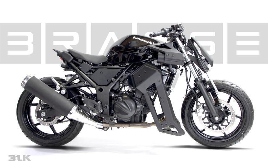 Brasse 31BLK Kawasaki Ninja 250 Killer Mod Looks
