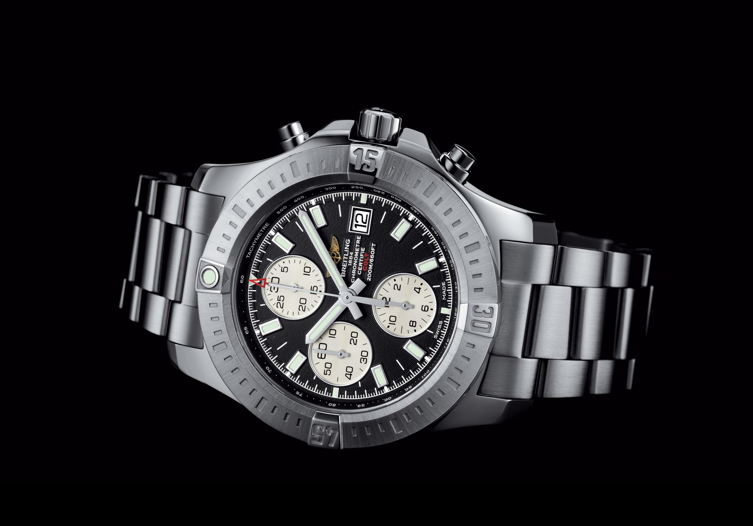 breitling colt chronograph brings the armed forces to your wrist video autoevolution. Black Bedroom Furniture Sets. Home Design Ideas