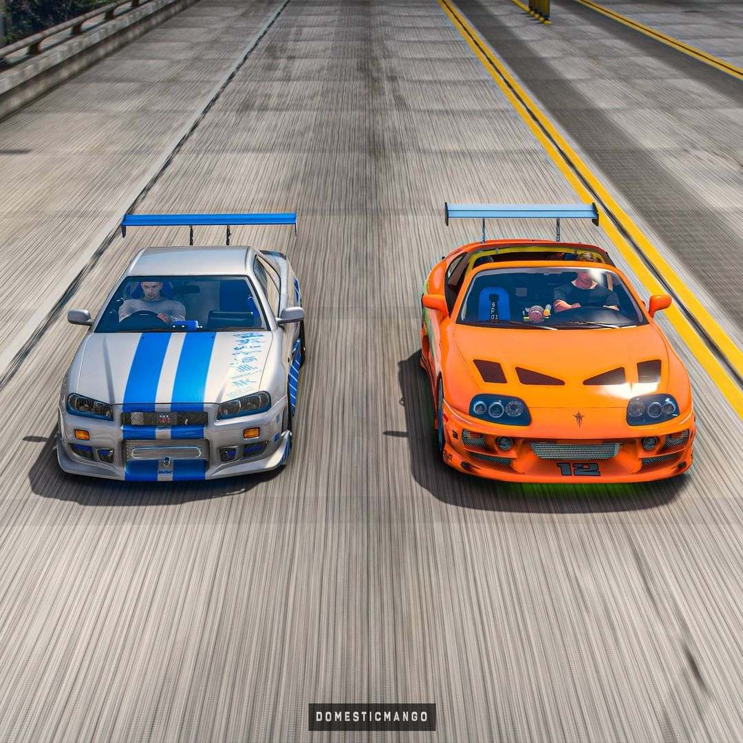 Brian's Toyota Supra Vs. O'Conner's R34 Skyline GT-R Is A